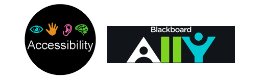 Accessibility logo and Blackboard Ally logo