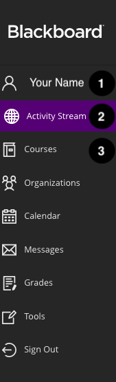 blackboard menu bar