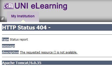 Node B - Discussion Board HTTP Status 404