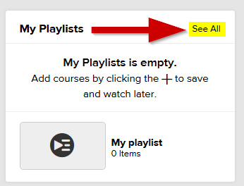 screenshot of my  playlists module