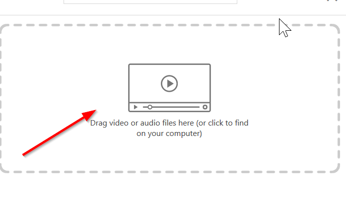 click and drag video file