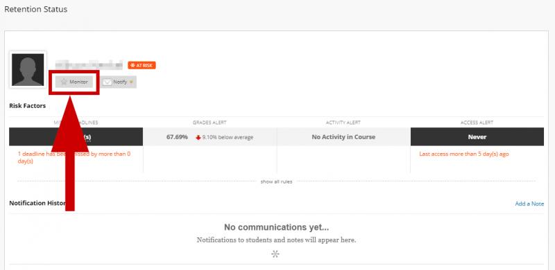 screenshot of monitor button