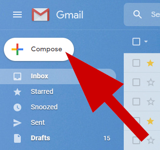 screenshot of compose email button
