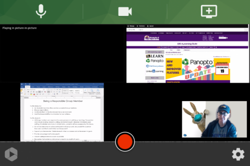 screenshot showing the Panopto Capture interface