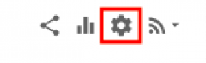 screenshot of settings icon boxed in red