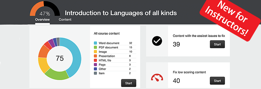 Banner Image for Blackboard Course Accessibility Reports