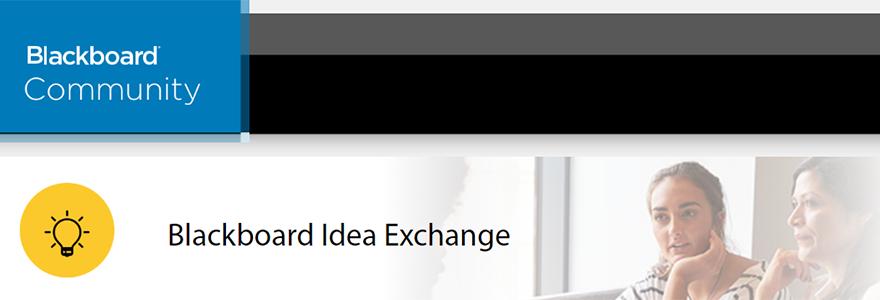 Screenshot of Blackboard Idea Exchange Homepage