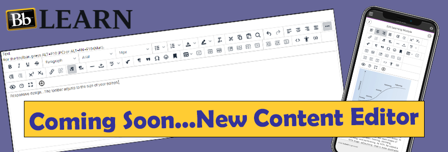 Bb Learn - Coming Soon...New Content Editor