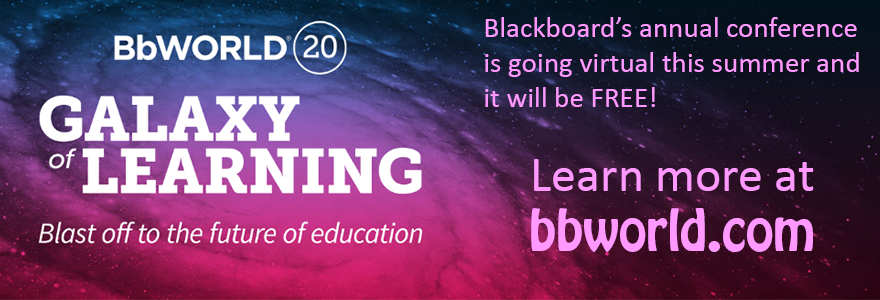 BbWorld20 Galaxy of Learning - Blast off to the future of education - Learn more at bbworld.com