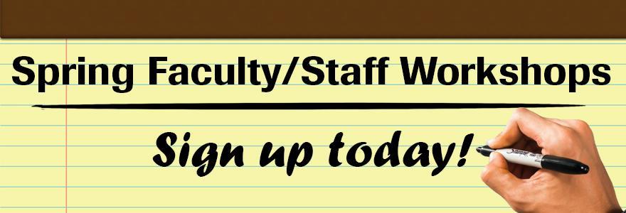 graphic showing sign up sheet for workshops