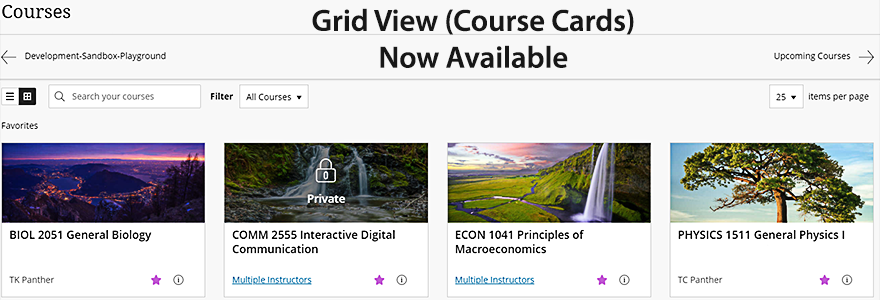 Graphic for eLearning Grid View